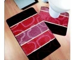 Коврик для ванной Avangart 2пр 50*80см бордовый