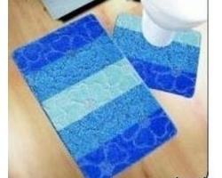 Коврик для ванной Avangart 2пр 60*100см голубой