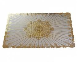 Скатерть виниловая ажурная золото 100*60см
