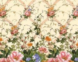 Клеенка DEKORAMA 1,4м 093B цветы на молочном