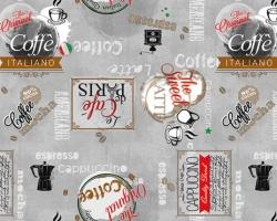 Клеенка DEKORAMA 1,4м 099В кофейные мотивы