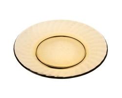 Тарелка стекло 20,5см ELICA дымч.