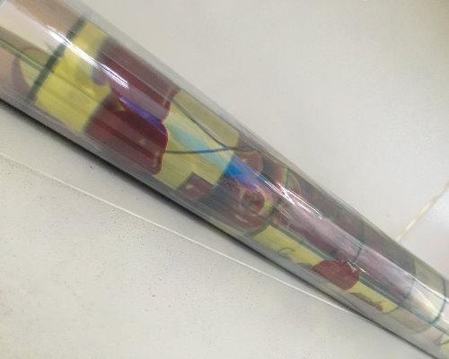 Клеенка Mirage 1,37м 1005 прозрачн. с печатью