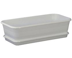 Ящик для рассады с поддон. 600*150*120мм Мрамор