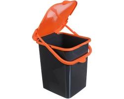 Контейнер д/мусора 18л Пуро салатовый 2475 IDEA