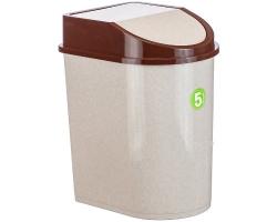 Контейнер д/мусора  8л беж.мрамор 2481 IDEA