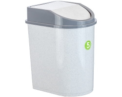 Контейнер д/мусора  8л мраморный 2481 IDEA