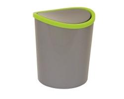 Контейнер д/мусора 1,6л настольн Металлик2490 IDEA