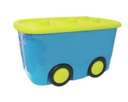 Ящик для игрушек Моби бирюзовый 2598 IDEA