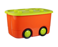 Ящик для игрушек Моби оранжевый 2598 IDEA
