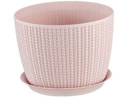 Кашпо Вязание Д155мм 1,9л чайная роза 3120 IDEA