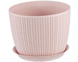Кашпо Вязание Д210мм 4,5л чайная роза 3122 IDEA
