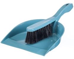 Щетка-сметка с совком Идеал серо-голуб. 5171 IDEA
