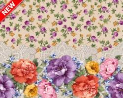 Клеенка DEKORAMA 1,4м 119А цветы на беж
