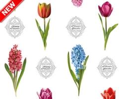 Клеенка DEKORAMA 1,4м 121А гиацинты и тюльпаны