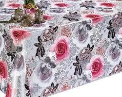 Клеенка DEKORAMA 1,4м 129D розы на сером