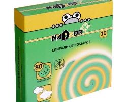 NADZOR Спирали от комаров без запаха черные 10шт.
