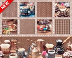 Клеенка DEKORAMA 1,4м 089B кофейные мотивы