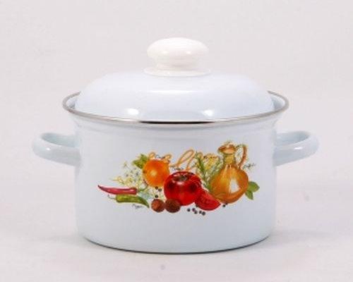 Кастрюля эмалир.  2,0л С-16104АП2 Итальян. кухня