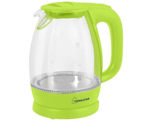 Эл. чайник  Homestar HS-1012 (1,7л диск) зеленый