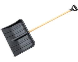 Лопата снеговая №3 515х410мм с дер. черен 1с V-руч