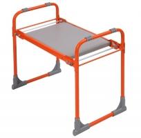 Скамейка садовая СКМ с мягким сиденьем оранж.