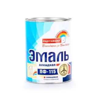 Эмаль ПФ-115 желтая 0,4кг (Радуга)