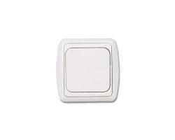 Выключатель Дельта С 16-002 бел/беж  (1кл. СП)