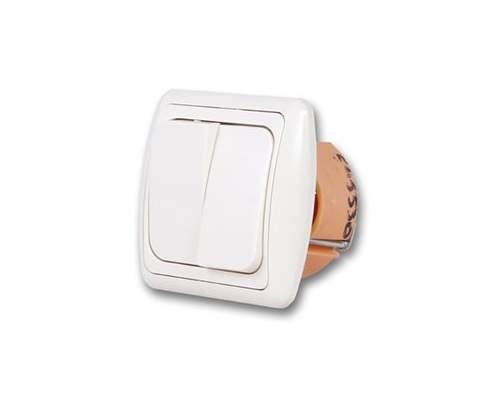 Выключатель Дельта С 56-002 бел/бел  (2кл. СП)