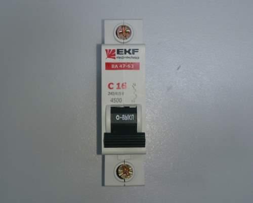 Автоматический выключатель 1п 16А С 4,5кА EKF