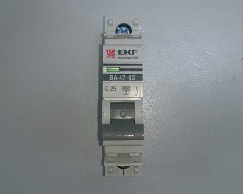 Автоматический выключатель 1п 25А С 4,5кА EKF