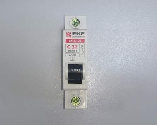 Автоматический выключатель 1п 32А С 4,5кА EKF